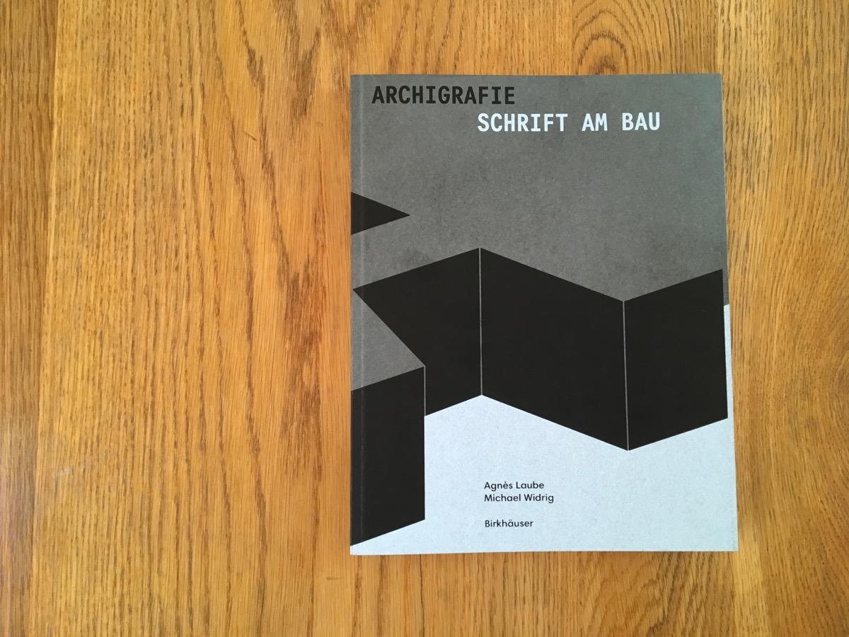 Archigrafie »Schrift am Bau« Cover